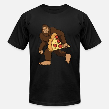 Fast Foot Bigfoot Pizza Sasquatch Fast Food Gift & Present - Men's  Jersey T-Shirt