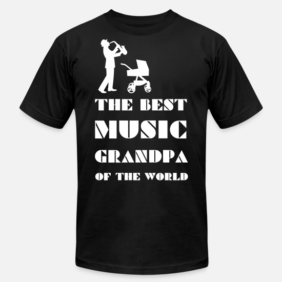 Gift Idea T-Shirts - The music grandpa 2reborn - Men's Jersey T-Shirt black