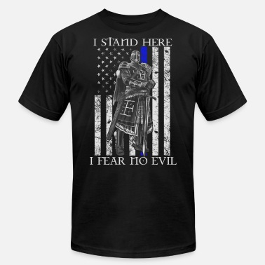 Orders Of Chivalry Crusader - I stand here fearing no evil flag tee - Men's Fine Jersey T-Shirt