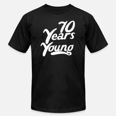 58af50224d 70 Years Young Funny 70th Birthday - Men's Jersey T-Shirt