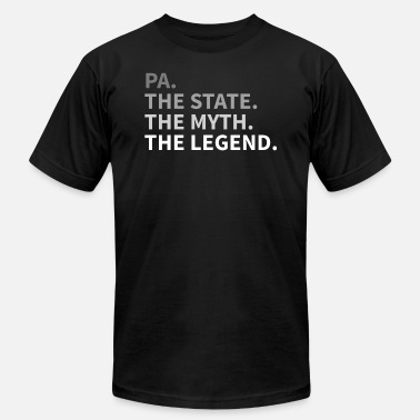 Proud Pa Pennsylvania The State The Myth The Legend | PA - Men's  Jersey T-Shirt