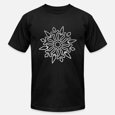 Snowflake Winter Sports Snowflake Winter time xmas - Men's  Jersey T-Shirt