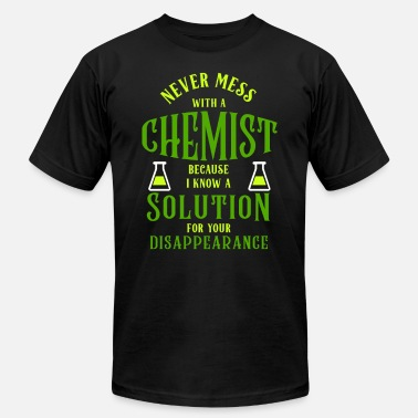Chemist Jokes Science Joke Chemist Cemistry Solution Quote Funny - Men's  Jersey T-Shirt