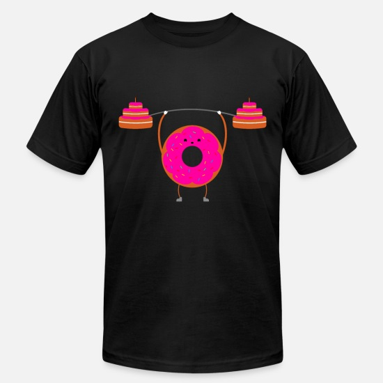 Gift Idea T-Shirts - DONUT GIVE UP Baker Baking Cake Gift Cake - Men's Jersey T-Shirt black