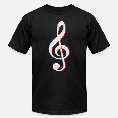 Musical Symbols Clef Gift Sheet Music - Men's Jersey T-Shirt