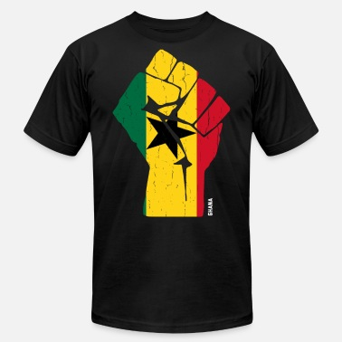 Accra Team Ghana Flag T Shirt - Men's Jersey T-Shirt