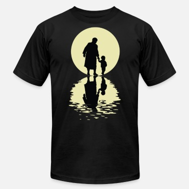 Nanna The Grandmother And The Moon - Men's Jersey T-Shirt