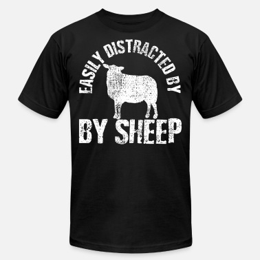 Distracted Easily Distracted By Sheep - Men's Jersey T-Shirt