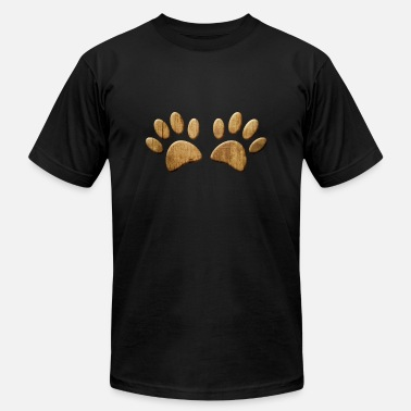 Wood Dog Paw Print - Men's Jersey T-Shirt