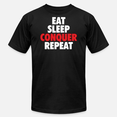Conquer Animal Eat Sleep Conquer - Men's Fine Jersey T-Shirt
