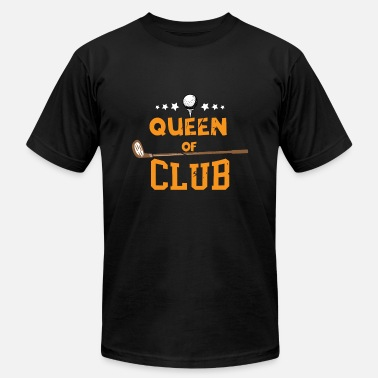Queen Of Clubs Womens Queen Of Club Golf graphic | Golfer Tee - Men's Jersey T-Shirt