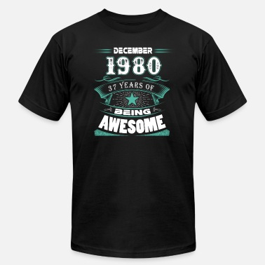 December-1980-37-years-of-being-awesome December 1980 - 37 years of being awesome - Men's Jersey T-Shirt