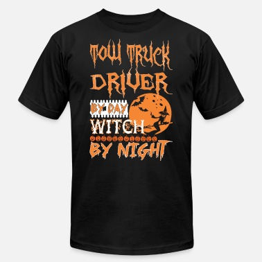 Night Driver TOW TRUCK DRIVER by day witch by night - Men's  Jersey T-Shirt