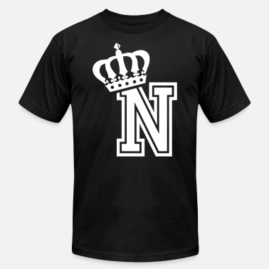 First Name Name: Letter N Character N Case N Alphabetical N - Men's  Jersey T-Shirt