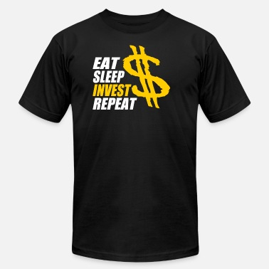 Investment Banking Eat sleep invest repeat, Banker, shares - Men's  Jersey T-Shirt