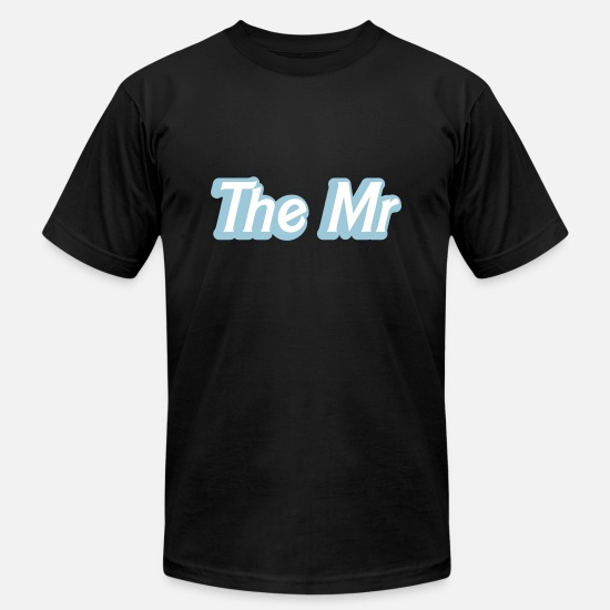 Mr And Mrs T-Shirts - The MR (Husband partner male man wedding together) - Unisex Jersey T-Shirt black