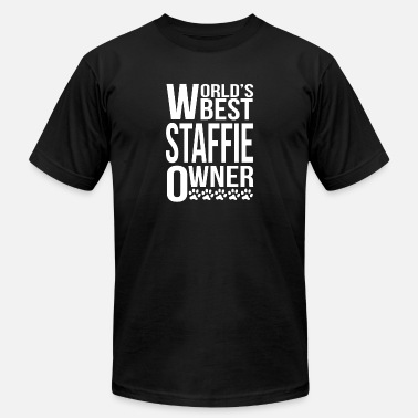 Staffie Owner World's Best Staffie Owner - Men's  Jersey T-Shirt