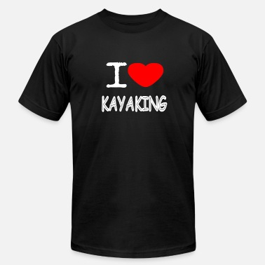 Pawl I LOVE KAYAKING - Men's Jersey T-Shirt