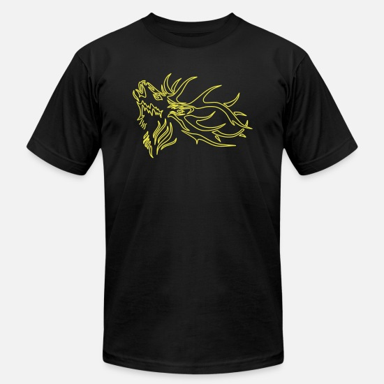 Stag T-Shirts - Deer - Unisex Jersey T-Shirt black
