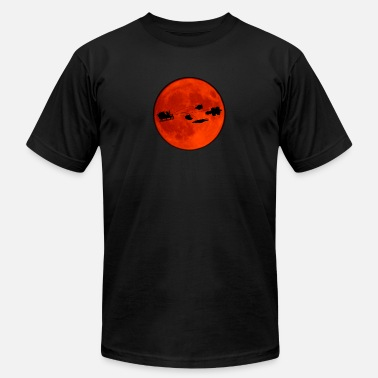 Christmas sled in front of the moon - Unisex Jersey T-Shirt