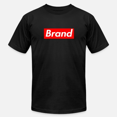 Logo Generic Red Box Brand Rectangular Logo Shirt - Men's Jersey T-Shirt