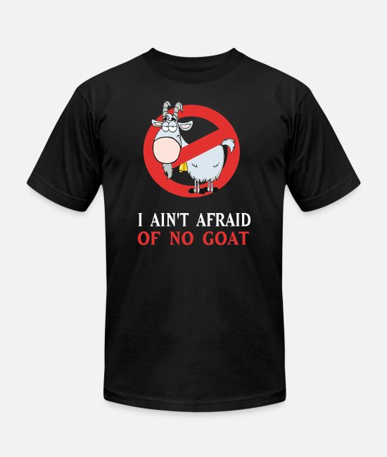 Cub T-Shirts - Cubs Goat Funny Shirt I Ain t Afraid of No Goat - Unisex Jersey T-Shirt black