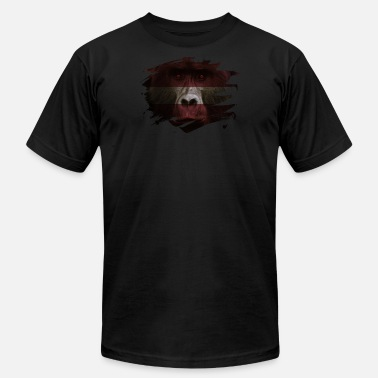Latvija Latvia Gorilla Flag - Men's Jersey T-Shirt
