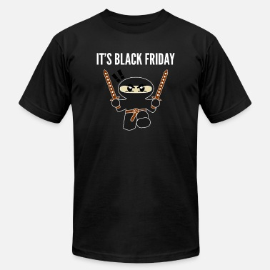 Shopping Frenzy Black Friday Shopping Frenzy Ninja - Men's  Jersey T-Shirt