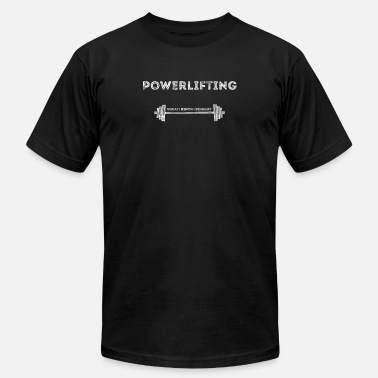 Barbell Lifting Weights Workout Gym Powerlifting Barbel Lifting Gym Motivation Workout - Men's  Jersey T-Shirt