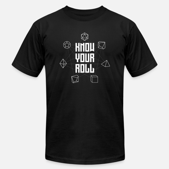 Slow T-Shirts - Know Your Roll - Men's Jersey T-Shirt black