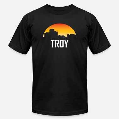 Troy Mi Troy Michigan Sunset Skyline - Men's Fine Jersey T-Shirt
