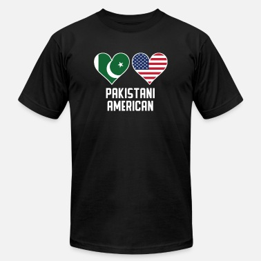 Pakistani Pakistani American Heart Flags - Men's Fine Jersey T-Shirt