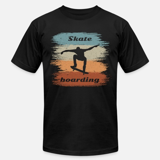 Birthday T-Shirts - Retro Vintage Skateboarding Design Ollie - Men's Jersey T-Shirt black