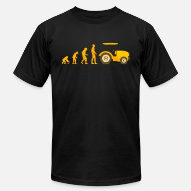 Trecker Evolution Traktor Trecker Farmer Farming Tractor - Men's Jersey T-Shirt
