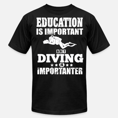 Diving Board Diving Education Saying Diving License Board - Unisex Jersey T-Shirt