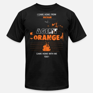 Orange Agent Orange -I came home from Vietnam, but... Age - Unisex Jersey T-Shirt