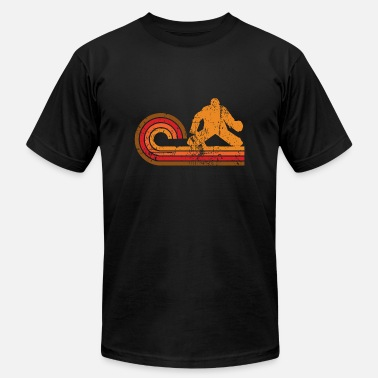 Hockey Goalie Silhouette Retro Style Goalie Silhouette Hockey - Men's  Jersey T-Shirt
