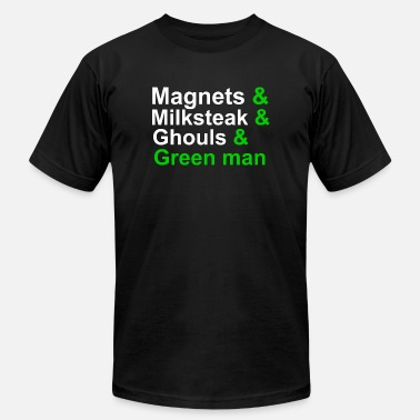 I Love Linguistics MAGNETS, GHOULS, AND GREEN MAN - Men's  Jersey T-Shirt