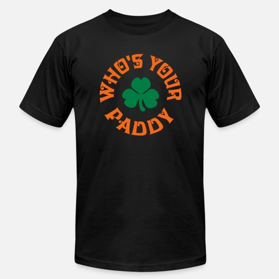 Irish T-Shirts - Whos Your Paddy v2 - Unisex Jersey T-Shirt black