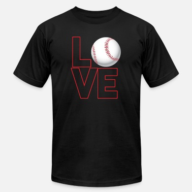 LOVE BASEBALL - Men's Jersey T-Shirt
