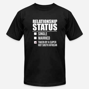 Hot Ones Relationship status taken by super hot South African South Africa Valentine's Day - Men's  Jersey T-Shirt