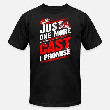 Fly Fishing Fishing - Just one more cast I promise - fishing - Men's  Jersey T-Shirt