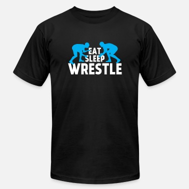 Wrestling Eat Wrestle - Eat Sleep Wrestle Shirt - Men's  Jersey T-Shirt