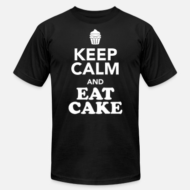 Cake Band CAKE - KEEP CALM AND EAT CAKE - Men's  Jersey T-Shirt
