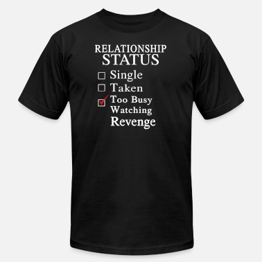 Busy Status Too busy watching Revenge - Relationship status - Men's Fine Jersey T-Shirt
