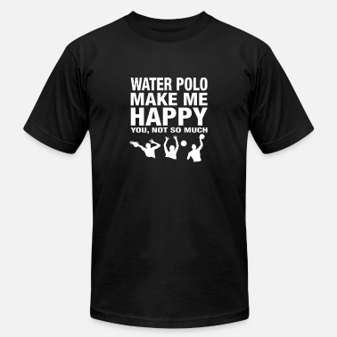 I Love Cock Couples Water polo make me happy - You not so much - Men's Fine Jersey T-Shirt