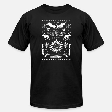 Supernatural Christmas A Very Supernatural Christmas Knit - Men's  Jersey T-Shirt