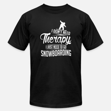 Darth Vader Snowboarding Snowboarding - Snowboarding is my therapy - Men's  Jersey T-Shirt
