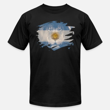 Africans Events Argentina Flag & African Lion Picture - Men's  Jersey T-Shirt