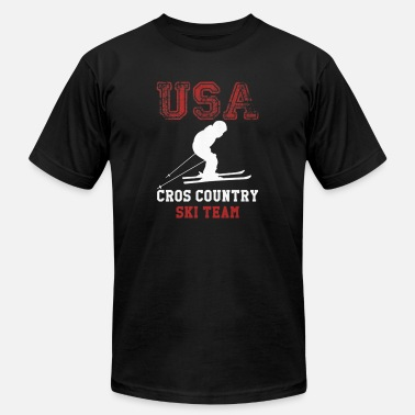 Usa Ski Team Winter Sports USA Cross Country Ski Team Shirt - Men's Jersey T-Shirt